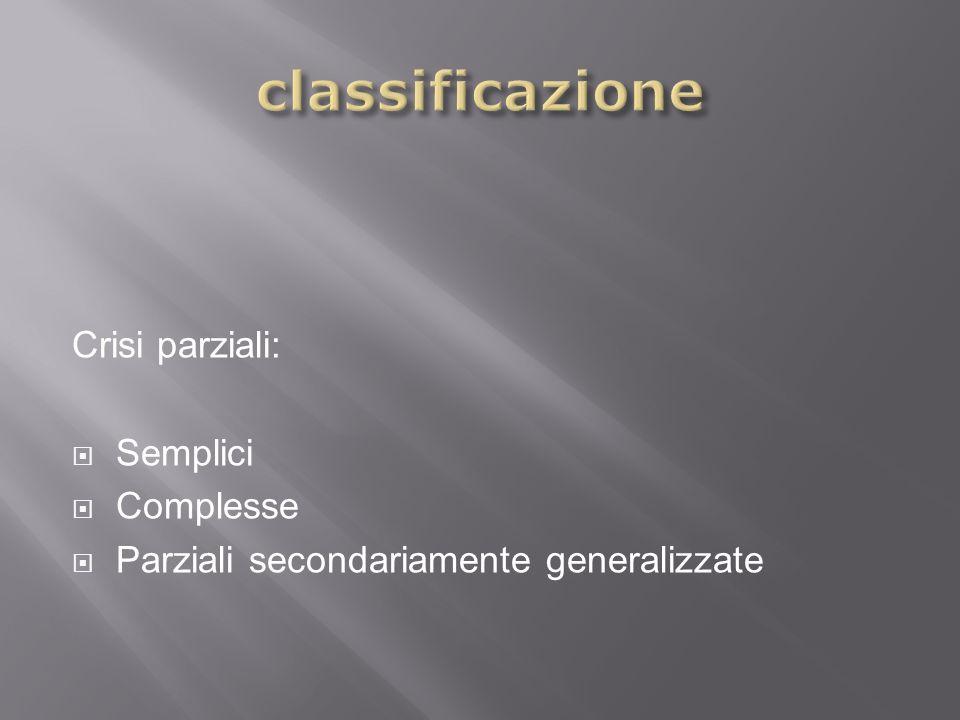 classificazione Crisi parziali: Semplici Complesse