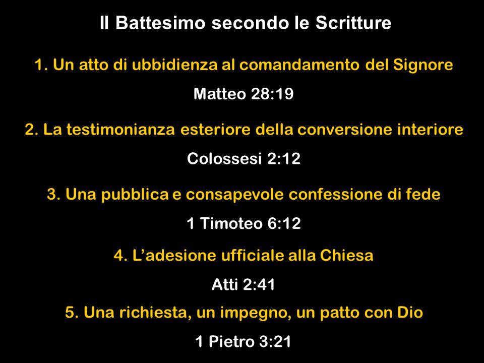 Il Battesimo secondo le Scritture