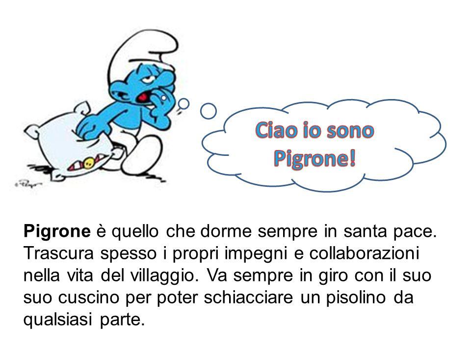Ciao io sono Pigrone!