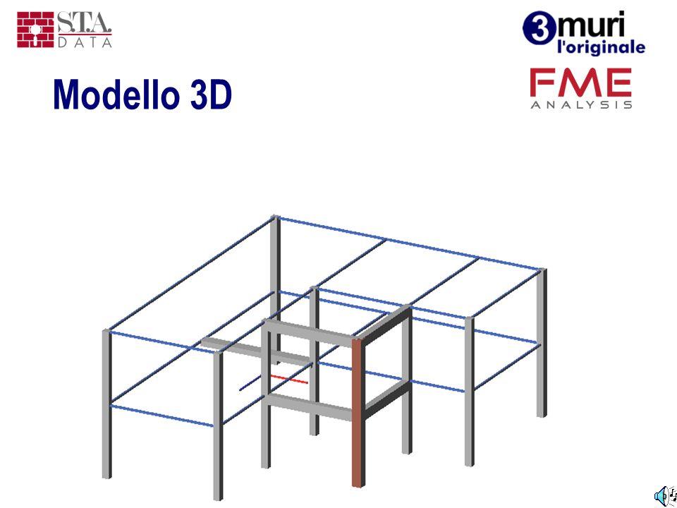 Modello 3D La figura riporta un modello completo, costituito da pareti, solai ed elementi con materiali diversi.