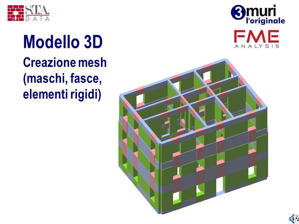 Modello 3D Creazione mesh (maschi, fasce, elementi rigidi)