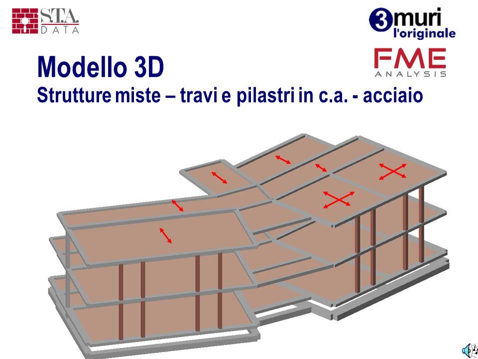 Modello 3D Strutture miste – travi e pilastri in c.a. - acciaio