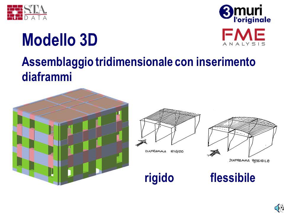 Modello 3D Assemblaggio tridimensionale con inserimento diaframmi