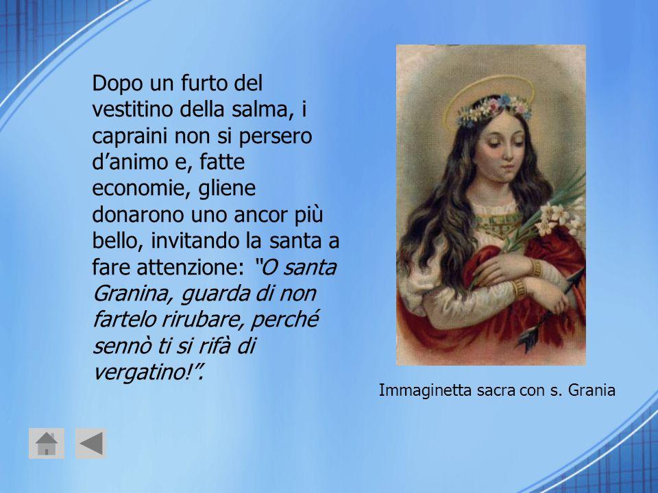 Immaginetta sacra con s. Grania