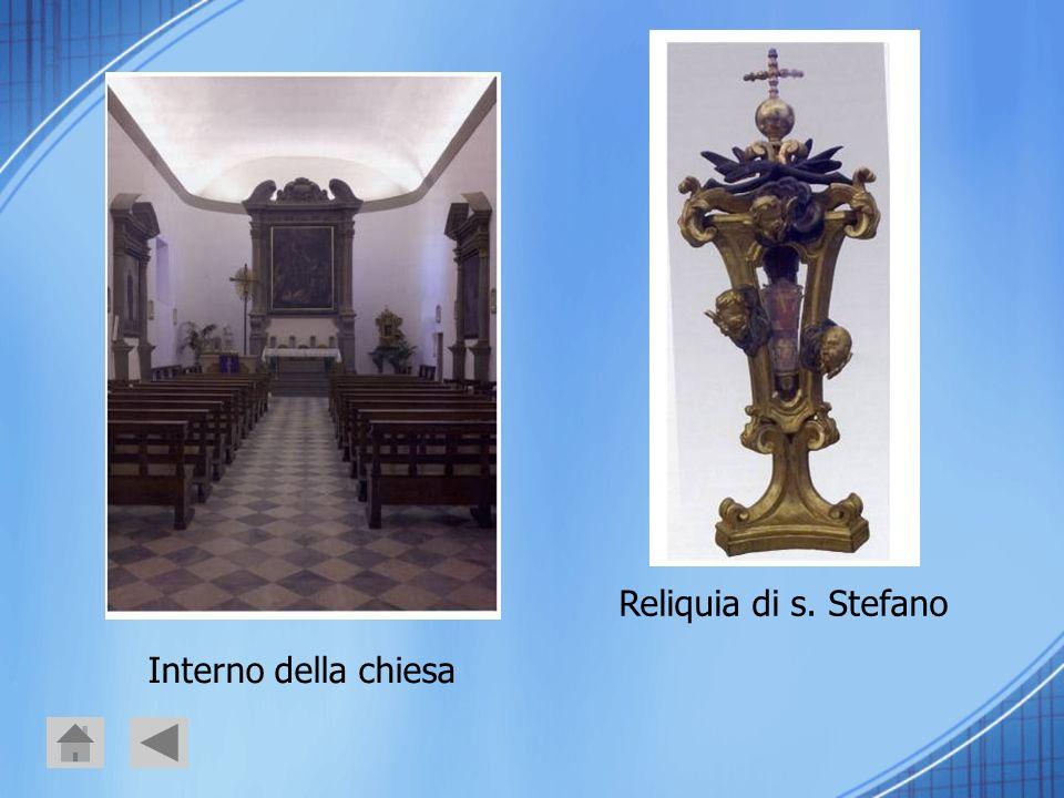 Reliquia di s. Stefano Interno della chiesa
