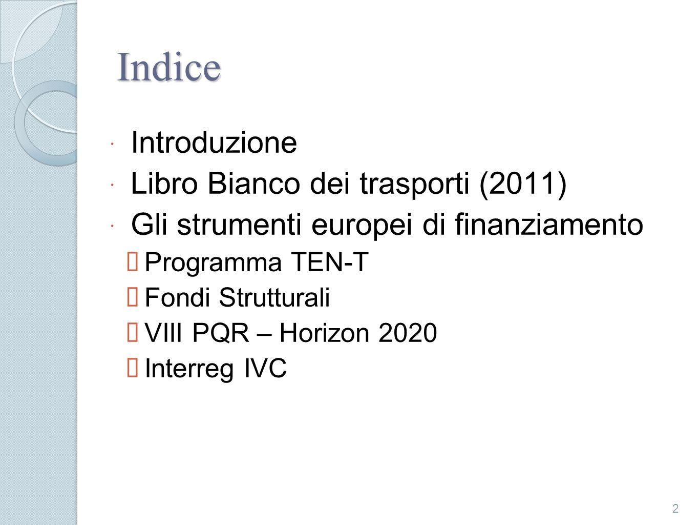 Indice Introduzione Libro Bianco dei trasporti (2011)