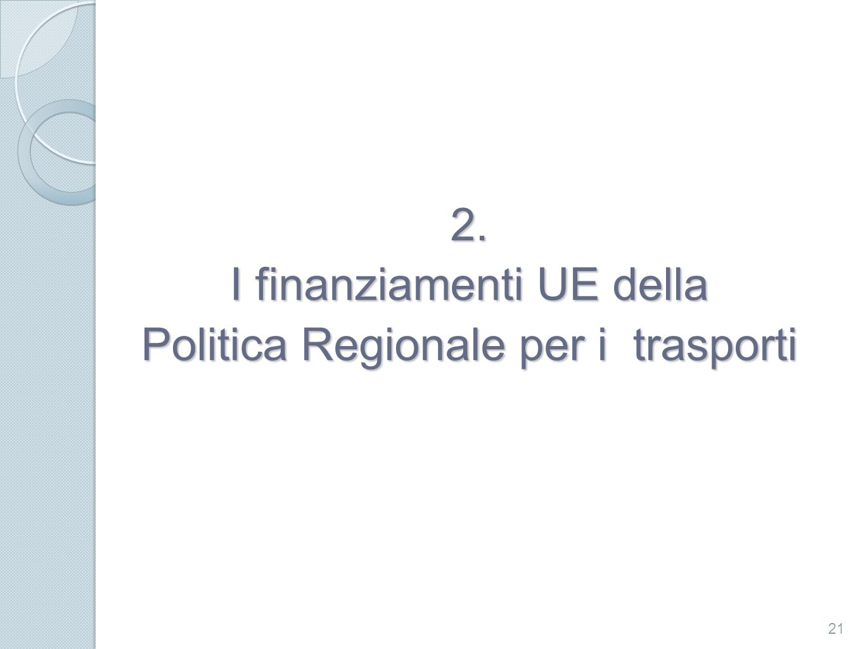 I finanziamenti UE della Politica Regionale per i trasporti