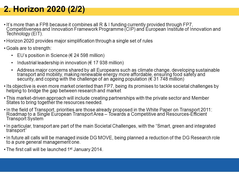 2. Horizon 2020 (2/2)