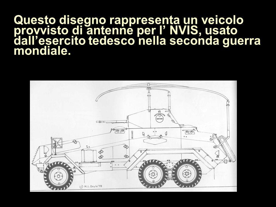 Questo disegno rappresenta un veicolo provvisto di antenne per l' NVIS, usato dall'esercito tedesco nella seconda guerra mondiale.