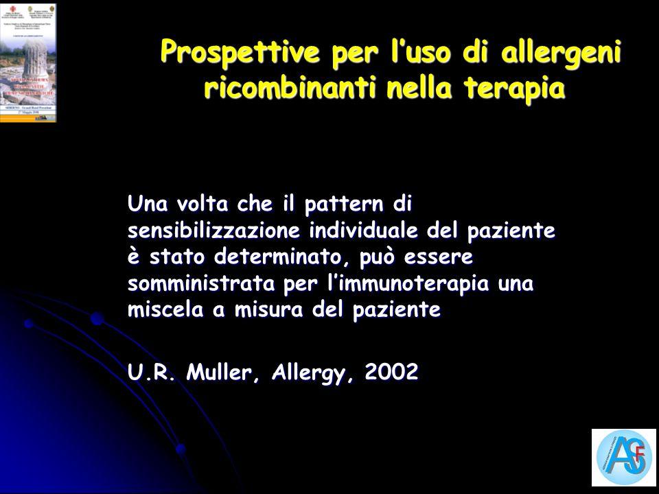 Prospettive per l'uso di allergeni ricombinanti nella terapia