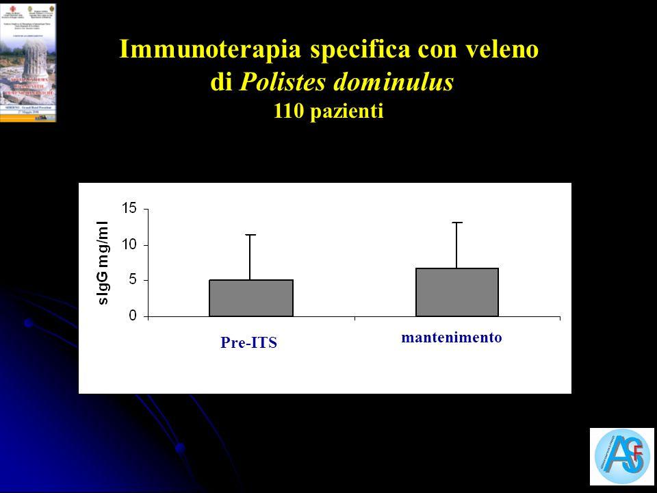 Immunoterapia specifica con veleno di Polistes dominulus
