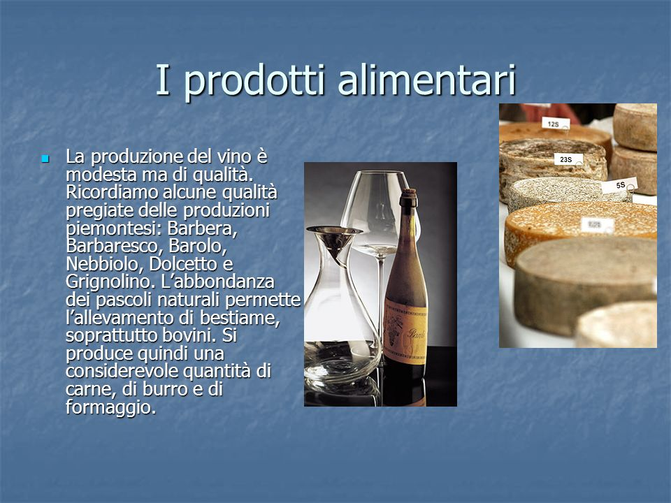 I prodotti alimentari