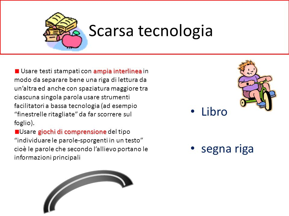 Scarsa tecnologia Libro segna riga