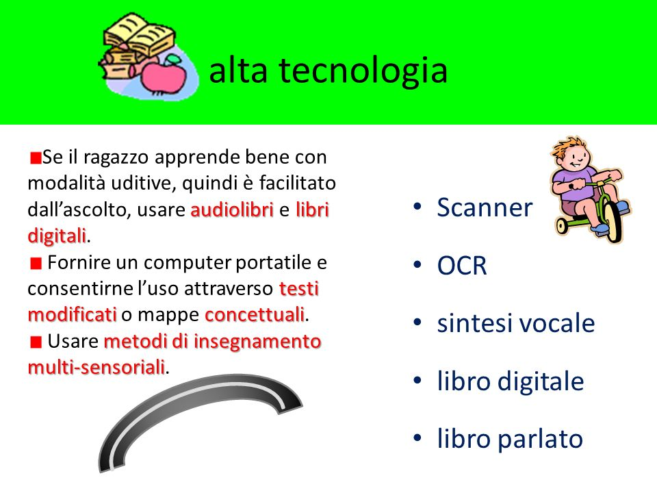alta tecnologia Scanner OCR sintesi vocale libro digitale