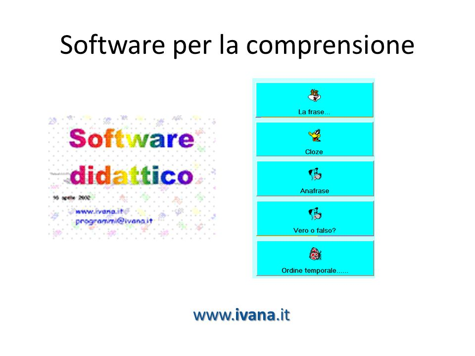 Software per la comprensione