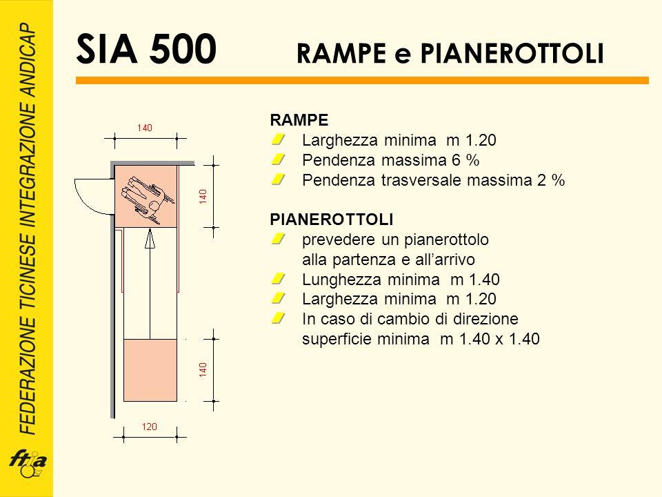 SIA 500 RAMPE e PIANEROTTOLI