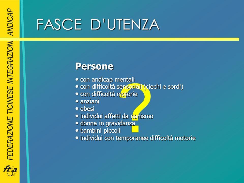 FASCE D'UTENZA Persone con andicap mentali