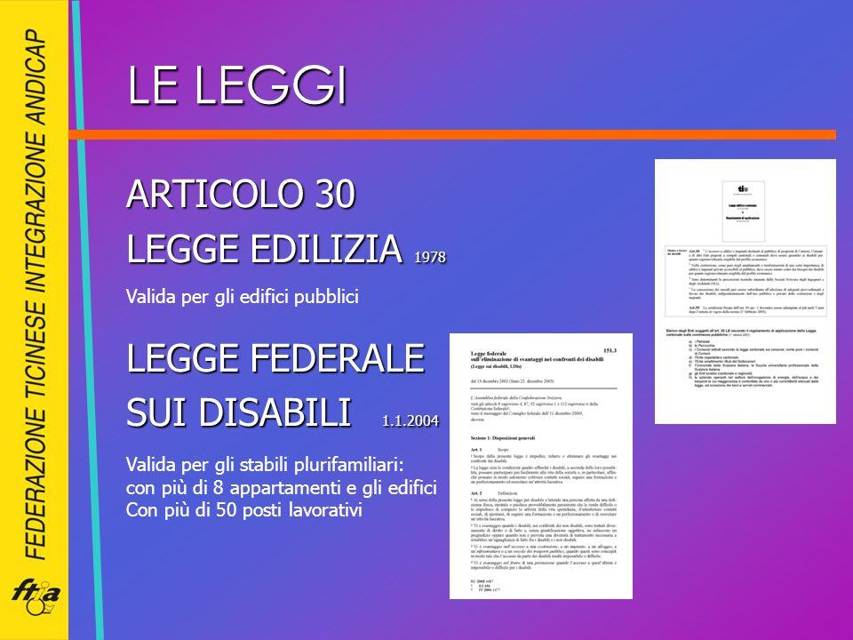 LE LEGGI ARTICOLO 30 LEGGE EDILIZIA 1978 LEGGE FEDERALE