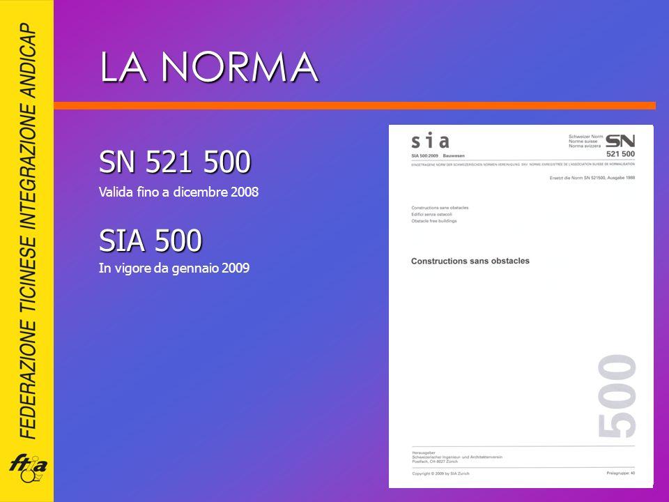 LA NORMA SN 521 500 SIA 500 Valida fino a dicembre 2008