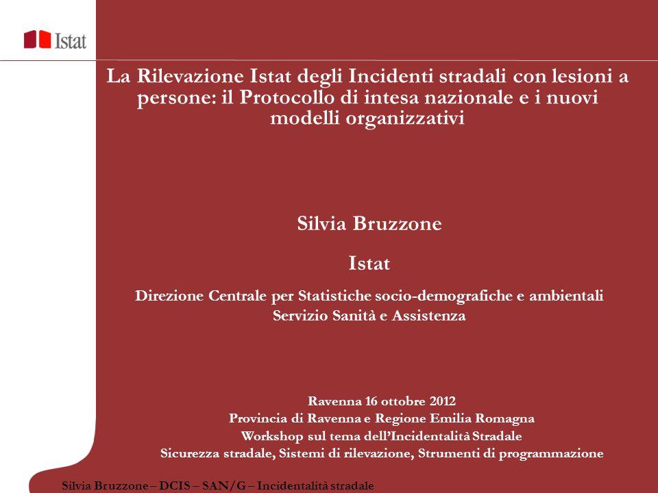 La Rilevazione Istat degli Incidenti stradali con lesioni a persone: il Protocollo di intesa nazionale e i nuovi modelli organizzativi