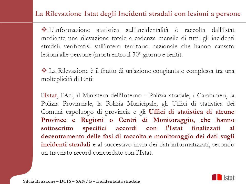 La Rilevazione Istat degli Incidenti stradali con lesioni a persone