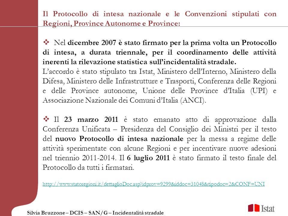 Il Protocollo di intesa nazionale e le Convenzioni stipulati con Regioni, Province Autonome e Province: