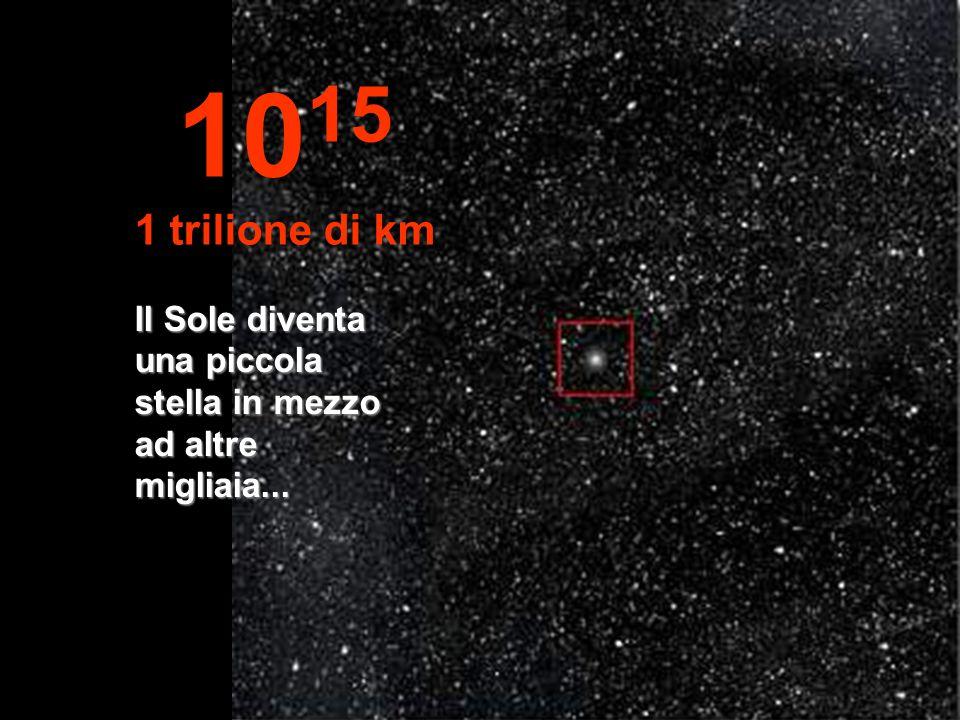 1015 1 trilione di km Il Sole diventa una piccola stella in mezzo ad altre migliaia...