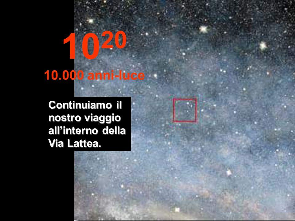 1020 10.000 anni-luce Continuiamo il nostro viaggio all'interno della Via Lattea.