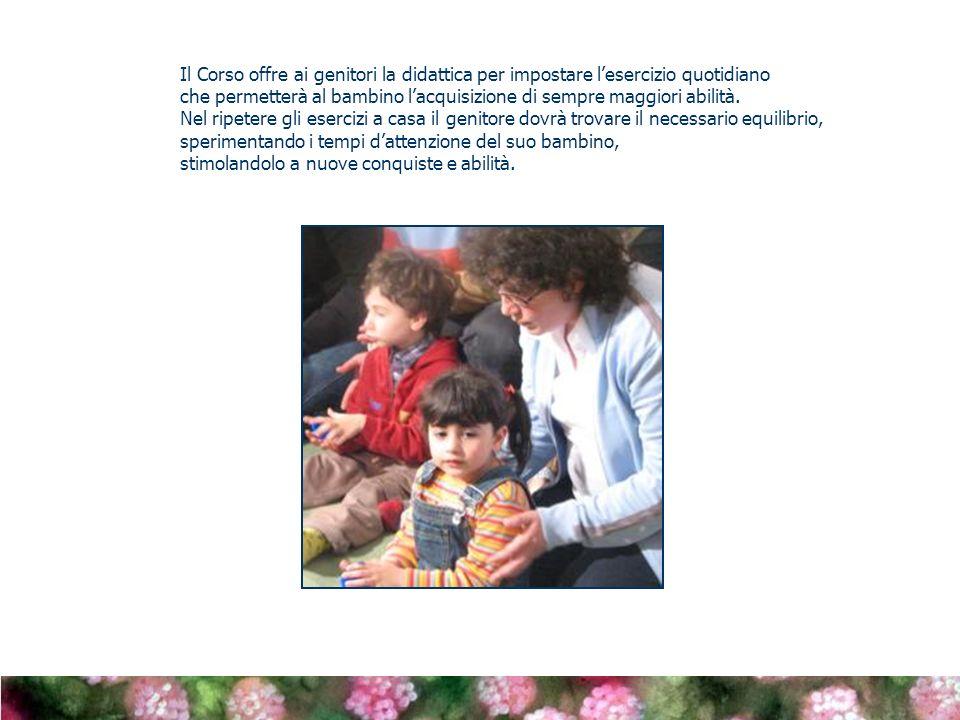 Il Corso offre ai genitori la didattica per impostare l'esercizio quotidiano