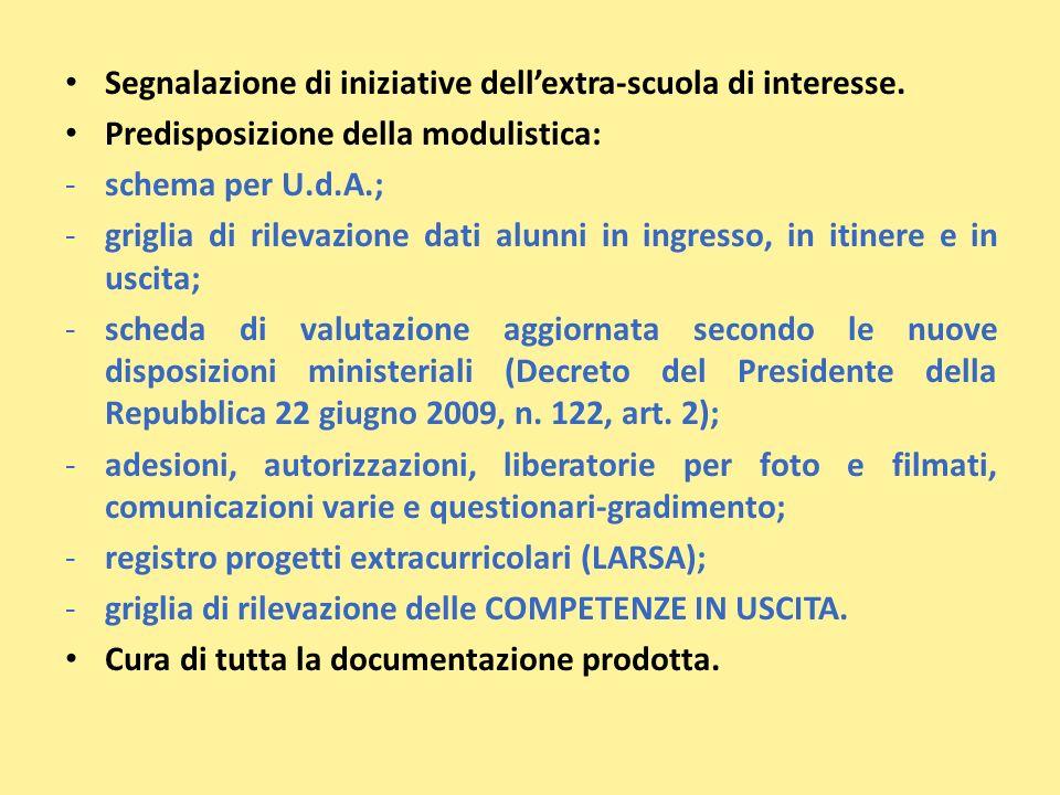 Segnalazione di iniziative dell'extra-scuola di interesse.