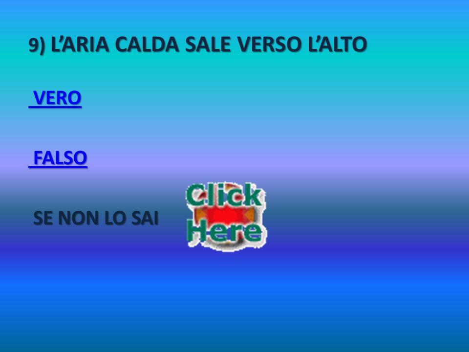 9) L'ARIA CALDA SALE VERSO L'ALTO