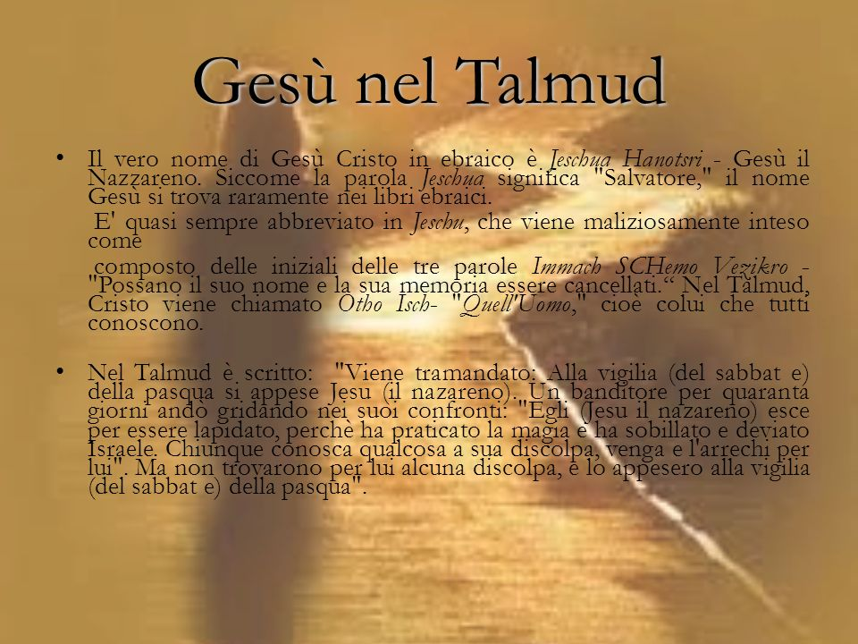 Gesù nel Talmud
