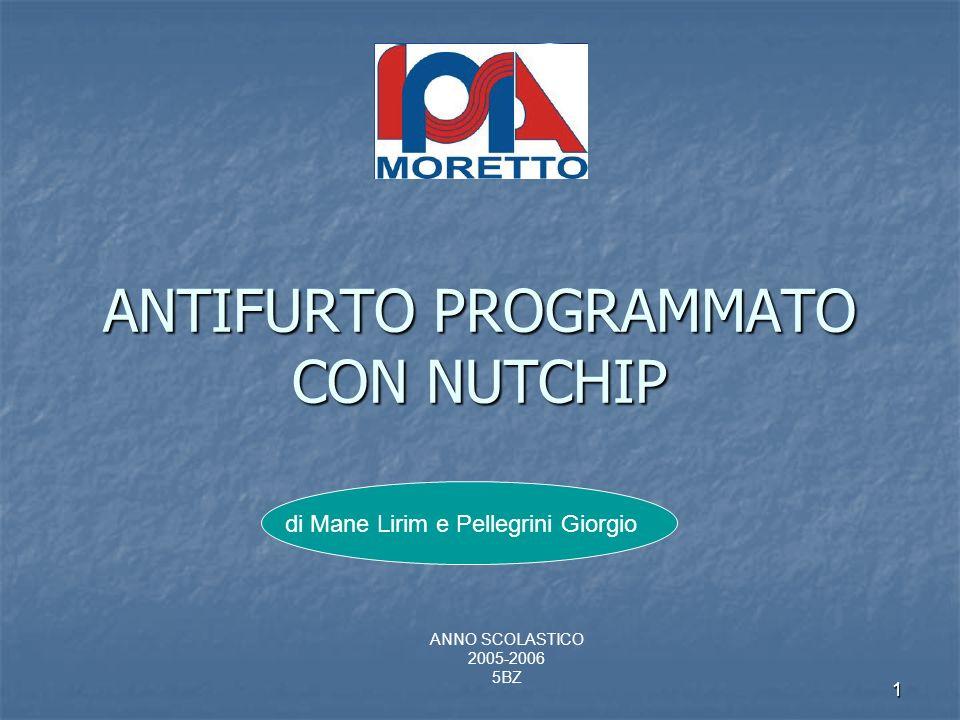 ANTIFURTO PROGRAMMATO CON NUTCHIP