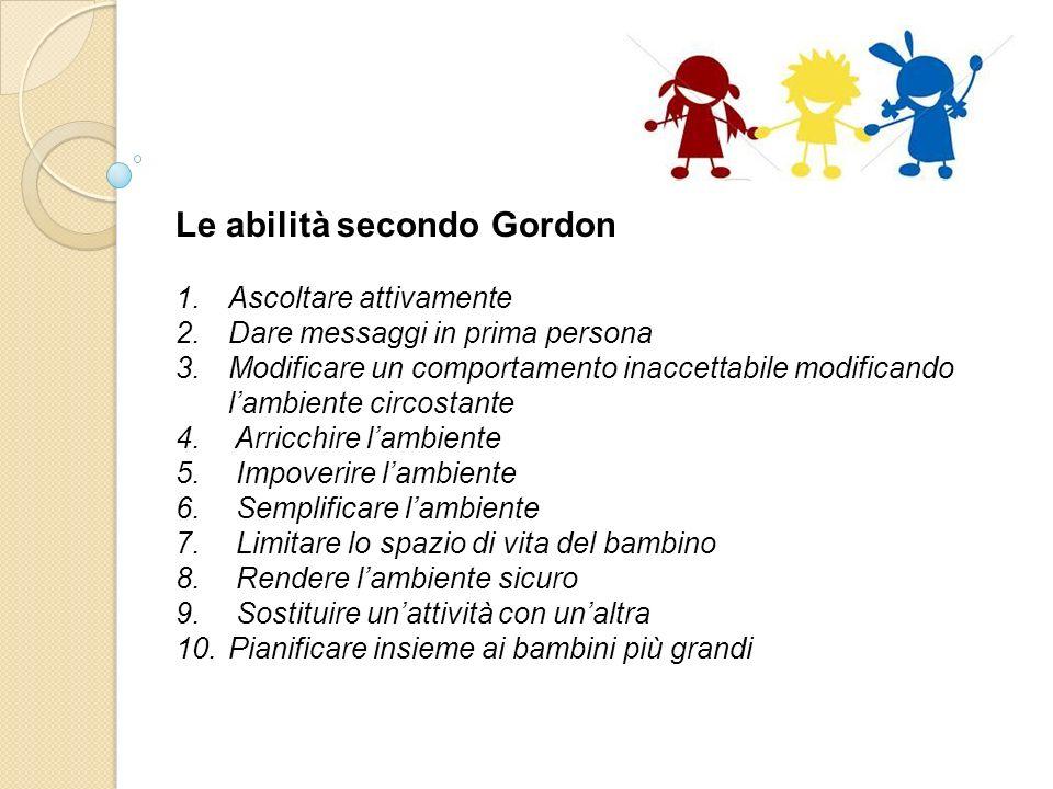 Le abilità secondo Gordon