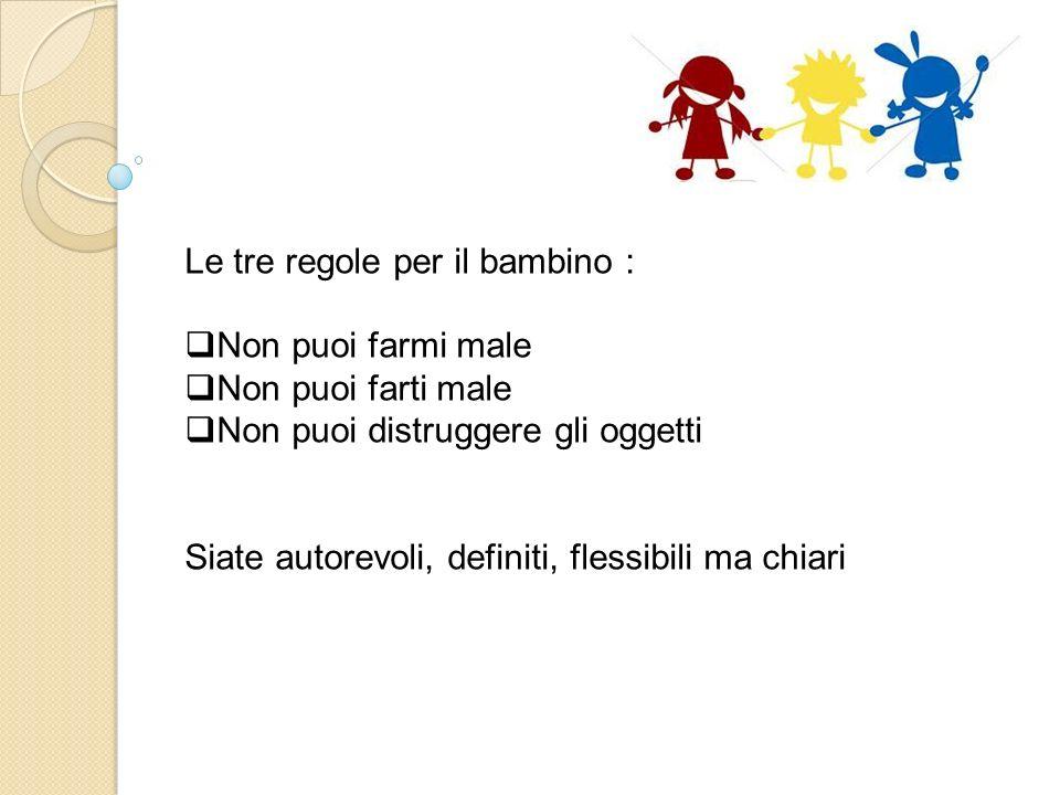 Le tre regole per il bambino :