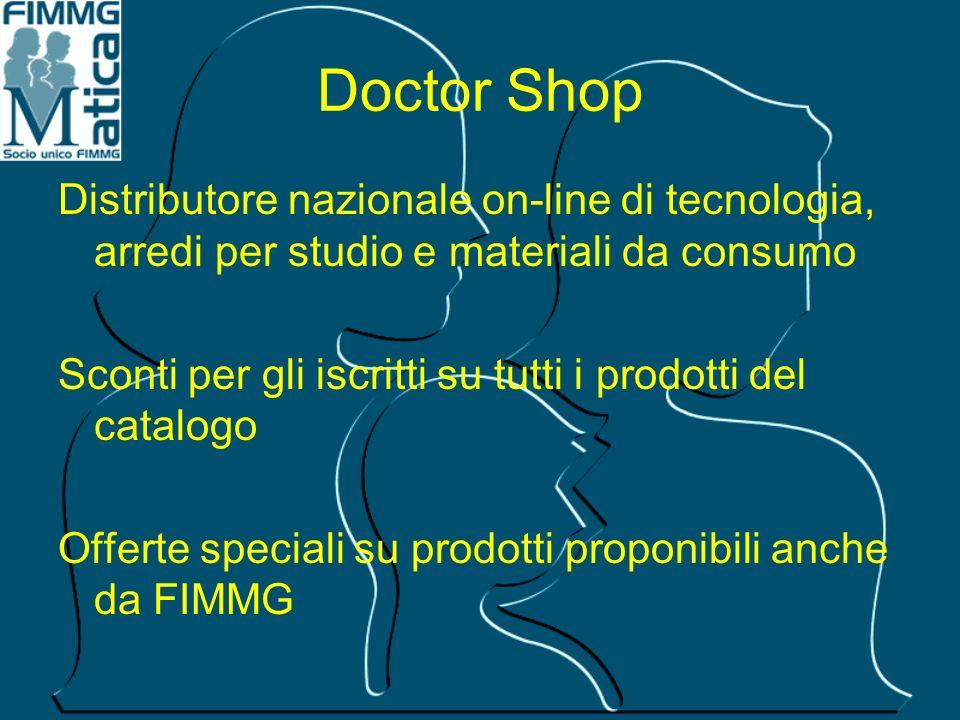 Doctor Shop Distributore nazionale on-line di tecnologia, arredi per studio e materiali da consumo.