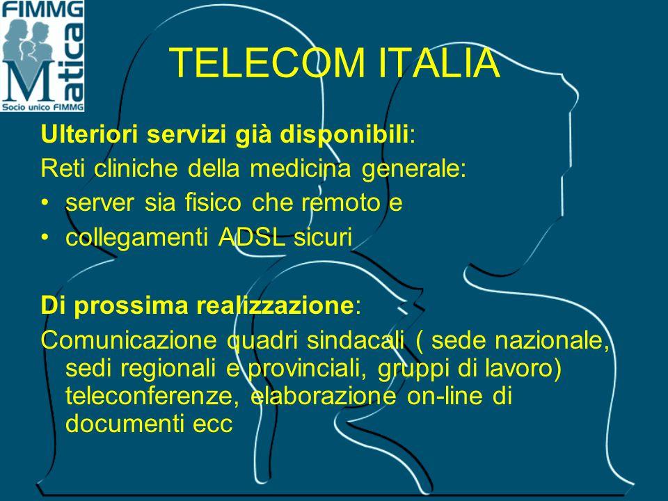 TELECOM ITALIA Ulteriori servizi già disponibili: