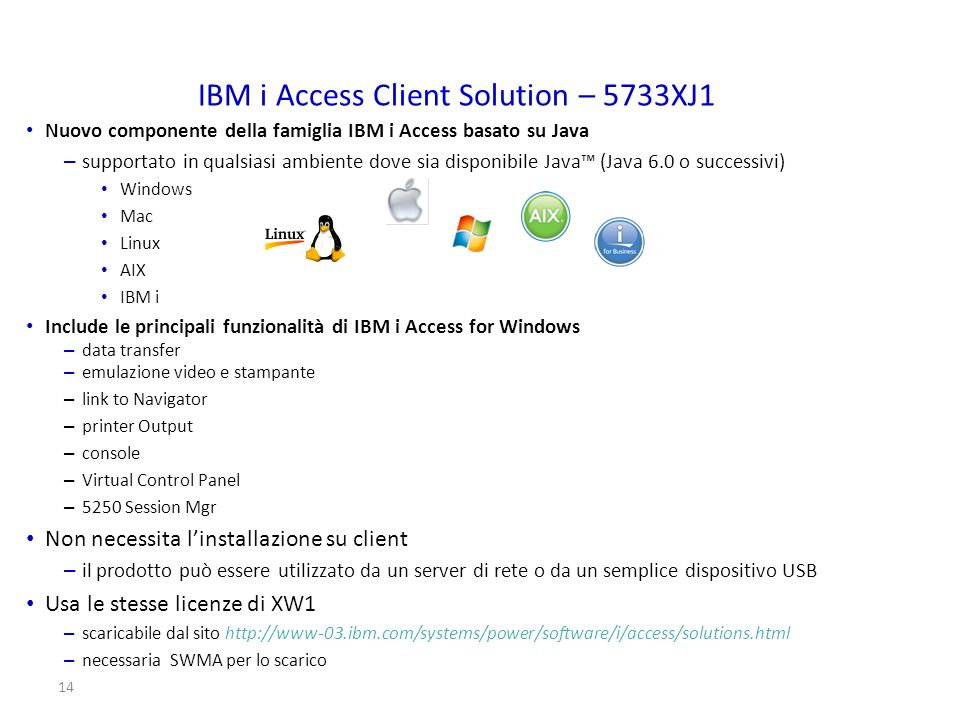 IBM i Access Client Solution – 5733XJ1