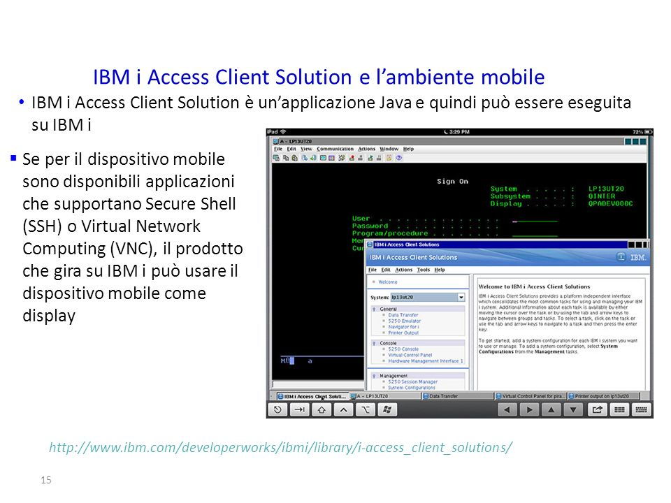 IBM i Access Client Solution e l'ambiente mobile