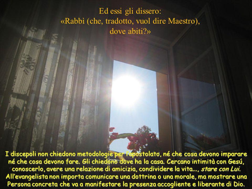 «Rabbì (che, tradotto, vuol dire Maestro),