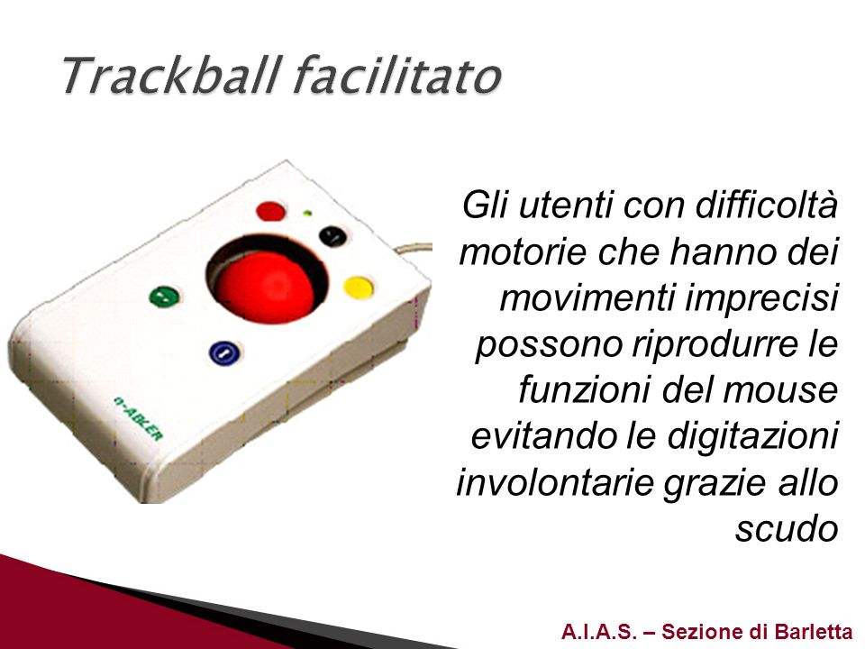Trackball facilitato