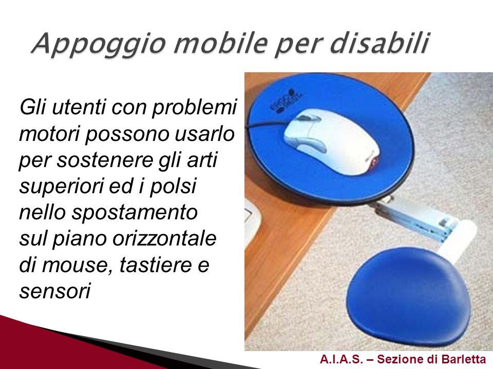 Appoggio mobile per disabili
