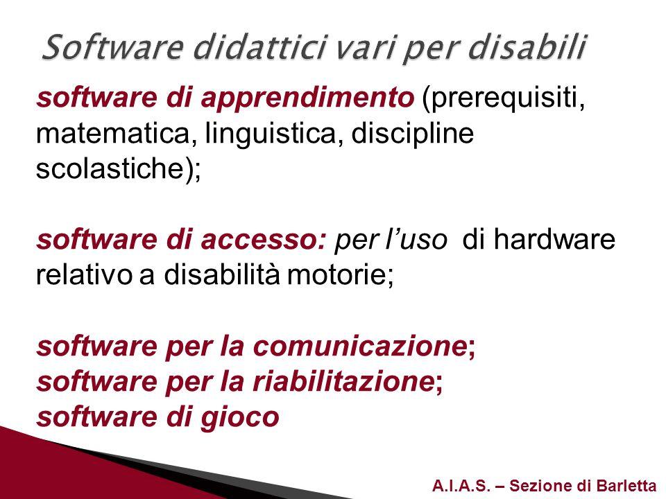 Software didattici vari per disabili