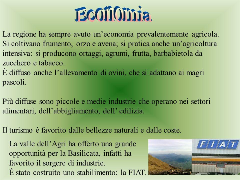 Economia La regione ha sempre avuto un'economia prevalentemente agricola.