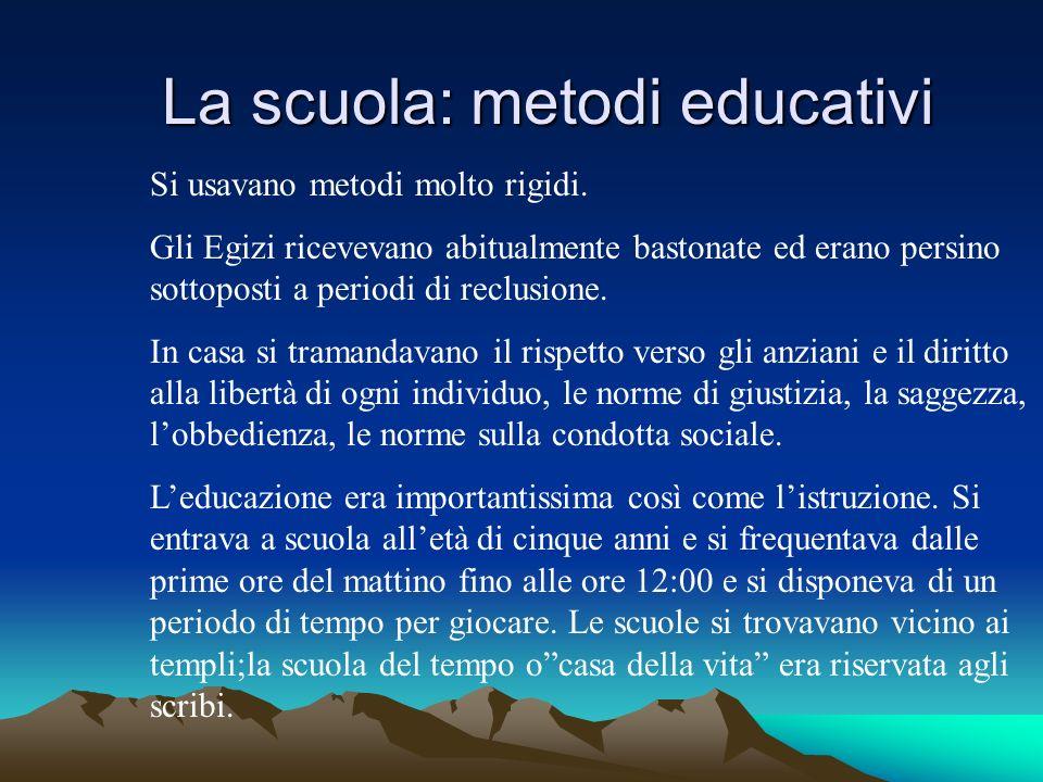 La scuola: metodi educativi
