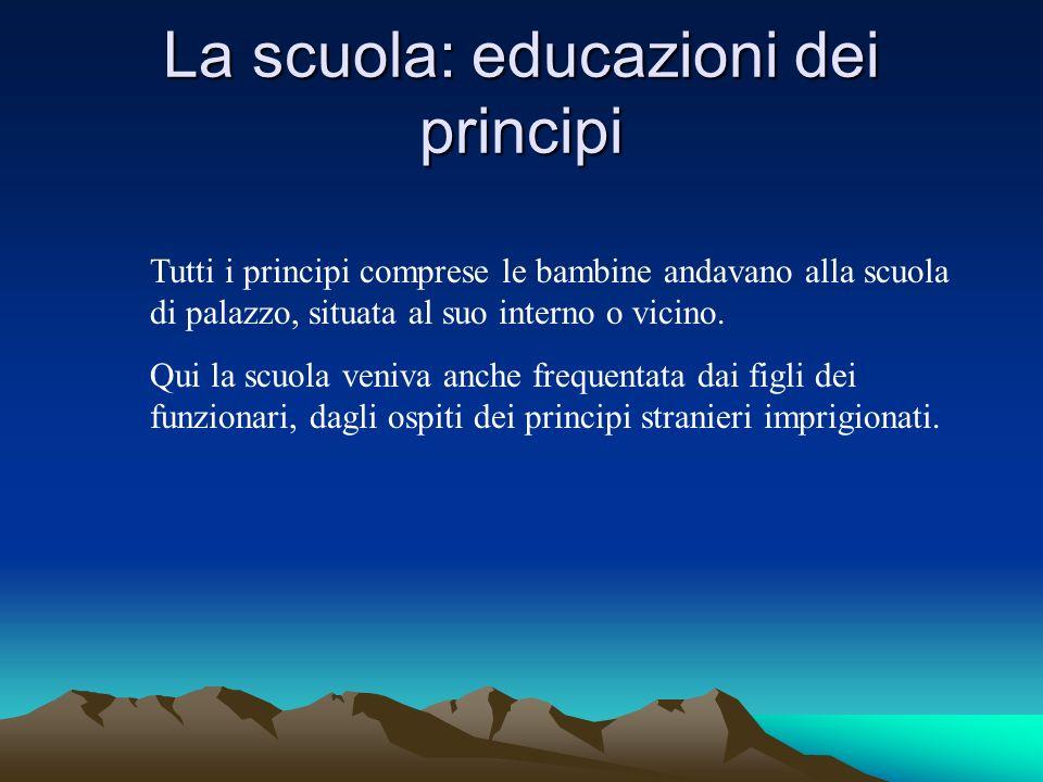 La scuola: educazioni dei principi