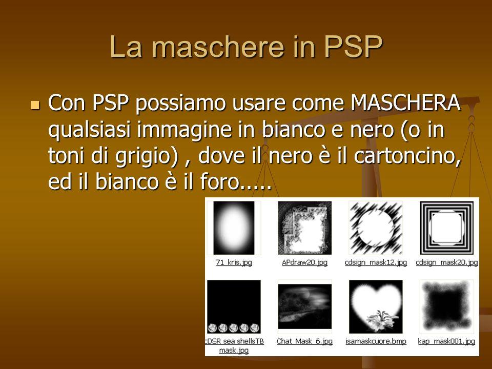 La maschere in PSP