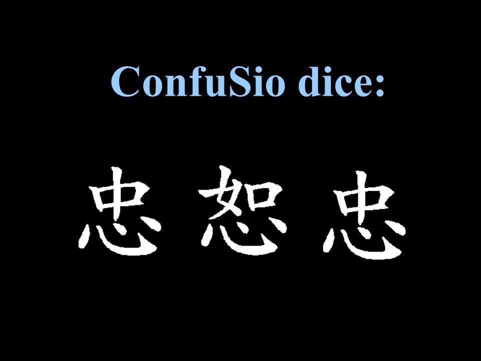 ConfuSio dice: Confucio dice: