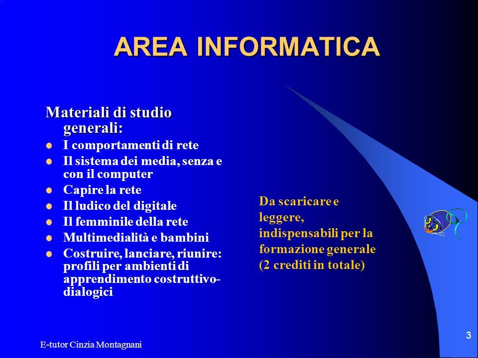 AREA INFORMATICA Materiali di studio generali: I comportamenti di rete
