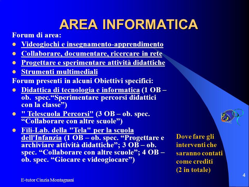 AREA INFORMATICA Forum di area: